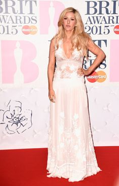 Ellie Goulding attends the BRIT Awards 2015 at The O2 Arena on February 25, 2015 in London, England.