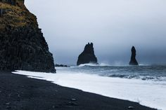 Road trip en Islande en hiver - Plage de sable noir - Vik, Reynisfjara