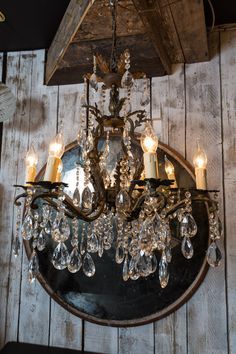 Beautiful French mid century chandelier cast in bronze and fully restored to working glory. An amazing feature light with original glass and fabulously patinated bronze. Mid Century Chandelier, French Chandelier, Restoration, Bronze, Chandeliers, Ceiling Lights, Living Room, Lighting, Glass