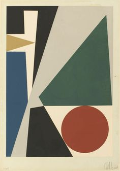 ANTONIO LLORENS, Untitled 2, 1960, Serigraph on paper, 38.1 × 25.4 cm http://decdesignecasa.blogspot.it