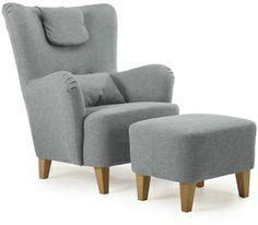 BONN Fåtölj och fotpall 0000147545 Accent Chairs, Ottoman, Armchair, Furniture, Home Decor, Bonn, Womb Chair, Homemade Home Decor, Single Sofa