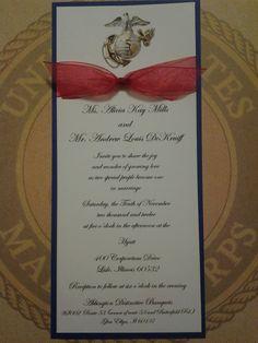 USMC Custom Invitations