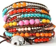 Want this soooooo bad! Colorful beads AND an elephant!