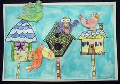Maybe with 1 bird?  Kids could choose which house it will live in.