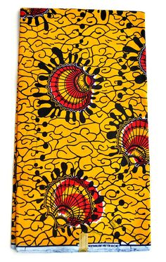 Red Vlisco African Fabric By The Yard, African Super Deluxe Wax  Print Fabric, Brocade Fabric Per Yard, African Ankara Print Fabric For Sale
