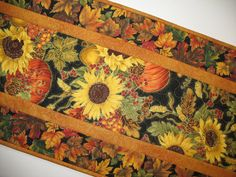 Autumn Table Runner Quilted fabric from by PicketFenceFabric, $31.95