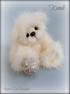 Bare Cub Designs - Kandi artist teddy bear by Helen Gleeson