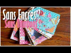 [ Challenge n°1 ] : Mini Album Sans Encres & Sans Tampons ! Débutant ♡ - YouTube