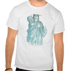 Illustration of the Statue of Liberty Tee T Shirt, Hoodie Sweatshirt