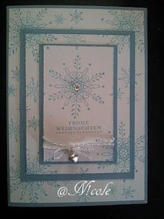 Meine erste Weihnachtskarte mit Produkten von Stampin' Up! Die besondere Kartenform gefällt mir sehr gut.