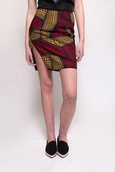African Print Wrap Skirt   shopDOKU