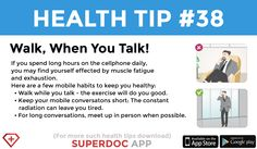 """Walk, When You Talk"" Heath Tips, Muscle Fatigue, Daily Health Tips, Do Your Best, Finding Yourself, Healing, Exercise, Exercise Workouts, Excercise"