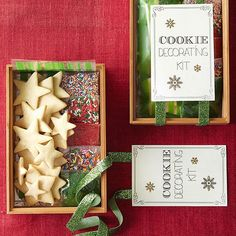A cookie decorating kit is the perfect food gift for a family to use together on Christmas Eve! http://www.bhg.com/christmas/gifts/homemade-food-gifts/?socsrc=bhgpin110614cookiedecoratingkit&page=5