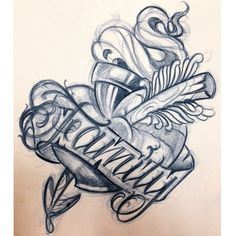 TATU BABY TATTOOS!, New school heart tattoo design. #tatubaby...