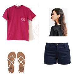 """""""summer outfit"""" by alexbetancourt on Polyvore featuring Barbour, Urban Outfitters and Billabong"""