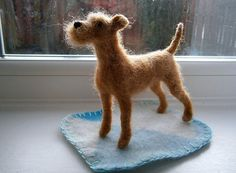 needle felted jack russell terrier - Google Search
