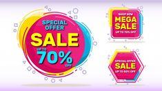 Sale banners set Premium Vector | Premium Vector #Freepik #vector #banner Sale Banner, Packaging Design, Vector Free, Freepik Vector, Social Media, Banners, Template, Layout, Vectors