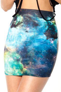Galaxy Green Skirt.