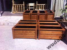 Donica doniczka ogrodowa drewniana 83x42x42-KOLOR