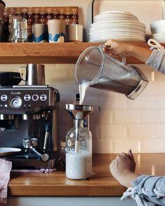 Maple Cinnamon Hemp Milk Recipe (no strain) | The First Mess Homemade Juice Recipe, Homemade Tea, Hemp Milk, Nut Milk Bag, Tea For Colds, Fall Clean Up, Vegan Hot Chocolate, Summer Drink Recipes, Nut Free