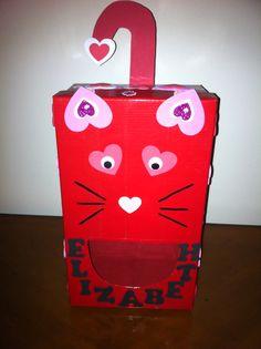 front view of cat valentine box valentineu0027s day boxes pinterest cat valentine valentines and cats