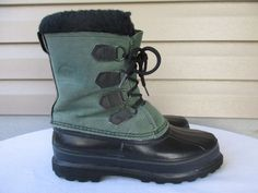 Sorel women boots size 8 Green Leather Canada #SOREL #SnowWinterBoots #Casual