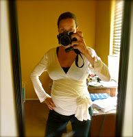 FREE Wrap Shirt pattern. It'd make a great skin to skin shirt for baby/baby-wearing/breastfeeding.