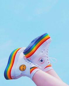 Kawaii Shoes, Kawaii Clothes, Aesthetic Shoes, Aesthetic Clothes, Sneakers Fashion, Fashion Shoes, Fashion Outfits, Moda Sneakers, Shoes Sneakers