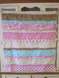 love rag quilts and made one - easy straight sewing perfect for the beginner!