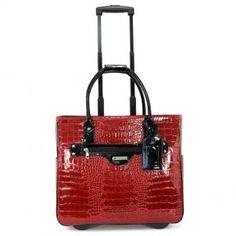 Patent Croco Laptop Rollerbrief - Women's - Laptop Bags