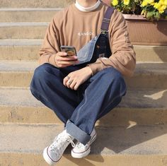 Indie Outfits, Retro Outfits, Cool Outfits, Casual Outfits, Fashion Outfits, Men Casual, Mode Streetwear, Streetwear Fashion, Indie Fashion Men