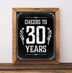 30th birthday decoration. Printable 30th birthday by SunnyNotes