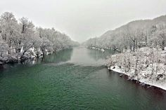 Greenbrier River in Pence Springs, West Virginia by MLM Photography #westvirginia #greenbrier #rivers #winter