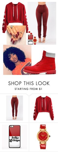 """Night Job Collection"" by trill-boss ❤ liked on Polyvore featuring WithChic, Timberland, Samsung and Versace"