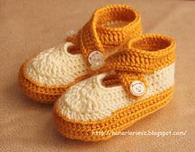 Ravelry: Double Strap Baby Booties pattern by Hunerlerimiz  free