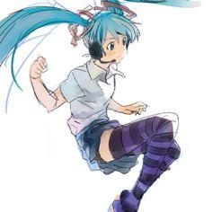 Hatsune Miku :) awesome vocliod