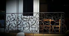 Wrought iron balustrade