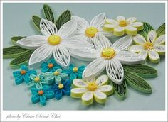 Tutorial for quilled flowers