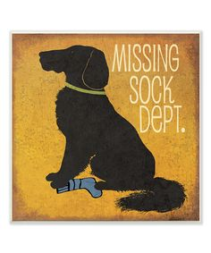 Look what I found on #zulily! 'Missing Sock Dept.' Wall Sign by Stupell Industries #zulilyfinds