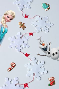 DIY Snowflake Garland Chain inspired by Frozen Free Fall