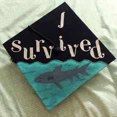 #graduation #cap #sharks #DIY #UC2016