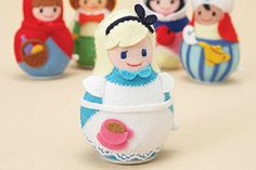 Fairy Tale Japanese Windup Felt Doll Craft by TheClothParcel