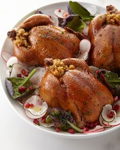 Stuffed Cornish Hens, For People Cornish Hen Recipe, Cornish Hens, Gourmet Recipes, Dinner Recipes, Healthy Recipes, Dinner With Ground Beef, World Recipes, Light Recipes, Clean Eating Snacks
