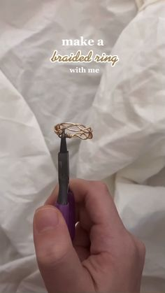 Diy Wire Jewelry Rings, Wire Jewelry Designs, Handmade Wire Jewelry, Diy Crafts Jewelry, Ring Crafts, Diy Rings, Diy Jewelry Necklace, Diy Jewelry Tutorials, Beaded Rings