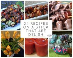 24 Recipes on a Stick That Are Delish Pork On A Stick, Sausage On A Stick, Pork Kabobs, Skewers, Crushed Potatoes, Baked Asparagus, Grilled Vegetables, Veggies, Wonderful Recipe