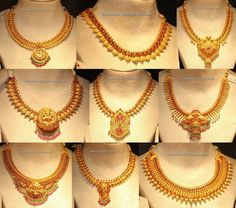 Antique necklace and antique finish necklaces Latest designs Gold Temple Jewellery, Gold Rings Jewelry, Gold Jewellery Design, Indian Bridal Jewelry Sets, Indian Jewelry, Kerala Jewellery, Bridal Jewellery, Gold Necklace Simple, Antique Necklace