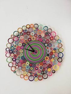 Wall clock, Paper clock, Colored clock, O … – Clock Ideas Quilling Work, Paper Quilling Jewelry, Quilling Paper Craft, Paper Crafts Origami, Paper Quilling For Beginners, Paper Quilling Tutorial, Paper Quilling Patterns, Paper Clock, Paper Art