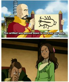 """YES"" - Sokka's artistic legacy lives on! I was laughing to much when I watched this episode omg!"
