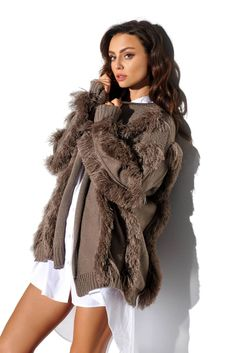Modeling, Fur Coat, Satin, Winter, Jackets, Decor, Products, Fashion, Tricot
