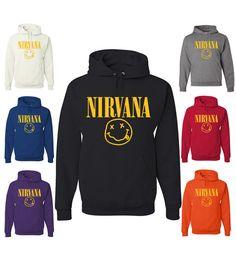 e570129fd71a5 Nirvana Smiley Face Kurt Cobain Hoodie Gay Pride Shirts